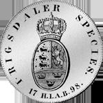 1798 Spezies Reichs Taler Silber Münze Rückseite