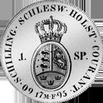 1795 Spezies Reichs Taler Münze Silber Rückseite