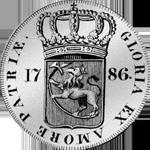 1786 Reichs Münze Taler Spezies Silber Rückseite