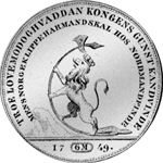 1749 Münze Silber Reichs Taler Kurant Rückseite