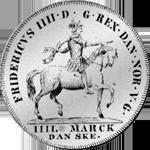 Kurant Taler Reichs Silber Münze Rückseite 1711
