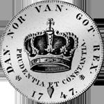 1747 Silber Krone Münze Rückseite