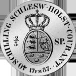1787 Münze Silber 2/3 Spezies Taler Rückseite