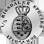 1798 Taler Spezies 1/3 Silber Münze