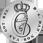 1783 Silber Münze 1/5 Spezies Taler 24 Schilling