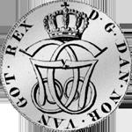 1774 24 Schillinge Spezies Taler 1/5 Silber Münze