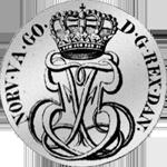 Silber Münze 1/5 Spezies Taler 24 Schilling 1755