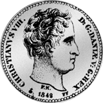 1/6 Spezies Taler 1842 Silber Münze