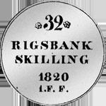 1/6 Spezies Taler Silber Münze 1820