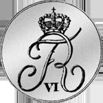1820 1/6 Spezies Taler Münze Silber Rückseite