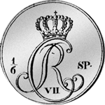 1788 Taler 1/6 Spezies Silber Münze Rückseite