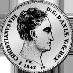 1/2 Spezies Taler 1842 Silber Münze