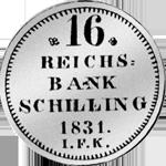 1/12 Spezies Taler Münze Silber 1831