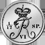 1831 Taler Rückseite Silber Münze Spezies 1/12