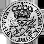 1717 Taler Silber Münze Rückseite 1/12 Spezies