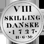 1/12 Taler Silber Münze Spezies 1727