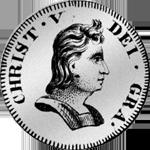 Silber Münze 1695 Spezies Taler 1/12