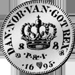 Rückseite 1695 Spezies Taler 1/12 Silber Münze