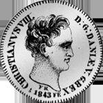 1843 Spezies Taler 1/24 Silber Münze