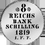 1/24 Spezies Taler Silber Münze 1819
