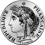1 Frank Silber Münze 1849