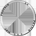 Umschrift Silber Münze Fünf Franken Stück 1849