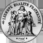 Münze 1848 Silber Fünf Franken Stück Rückseite