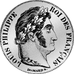 Fünf Franken Stück Silber Münze 1846