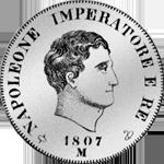1807 Fünf Franken Stück Silber Münze