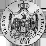 1807 Münze Silber Fünf Franken Stück Rückseite