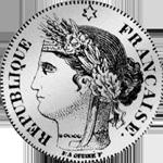1849 Silber Münze Zwei Franken Stück 1849