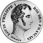 1830 Zwei Franken Stück Silber Münze Rückseite