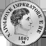 2 Lire Silber Münze 1807