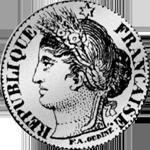 1850 1/2 Frank Silber Münze