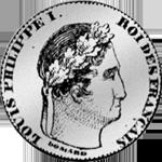 1/2 Frank Silber Münze 1843
