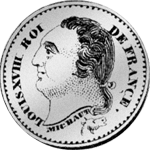 1821 Frank 1/2 Münze Silber Rückseite