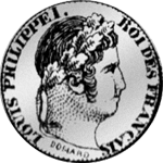 1/4 Münze Silber Frank 1843