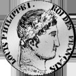 1848 Silber Münze 1/4 Frank