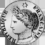 1/5 Frank Münze Silber 1850