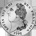 6 Livres Taler Silber Münze 1792