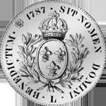 1787 Silber Livres Taler 6 Münze