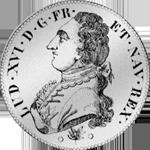 1787 Umschrift 6 Livres Taler Silber Münze