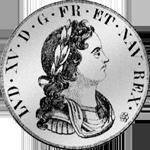 Ecu Petit Navarra Taler Silber Münze 1718
