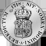 1718 Silber Münze Ecu Petit Navarra Taler Rückseite