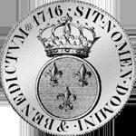 1716 Silber Münze Ecu Blanc a la couronne