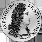 1711 Silber Münze Ecu Blanc