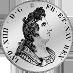 1701 Silber Münze Ecu Blanc Louis