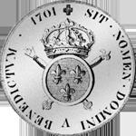1701 Blanc Louis Ecu Silber Münze Rückseite