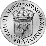 1652 Argent Louis Ecu Blanc Silber Münze
