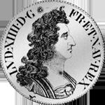 1706 Silber Münze Ecu Blanc